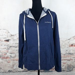 Sundance M Blue Logo French Terry Lined Hoodie